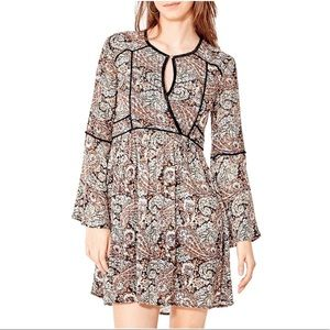 CALIFORNIA MOONRISE Floral Bell Sleeve Boho Dress